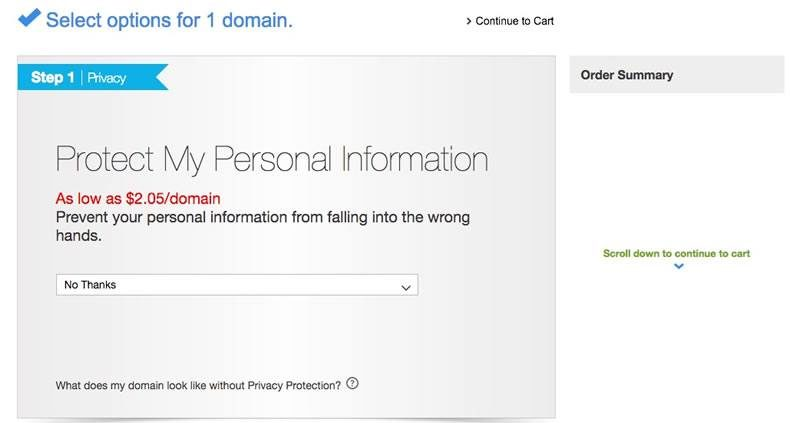 add domain privacy